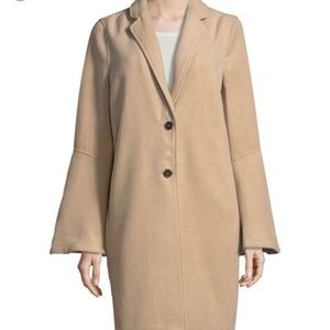 wool cashmere bell sleeve coat
